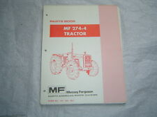 Massey Ferguson Mf274-4 Mf 274-4 4Wd tractor parts book catalog manual