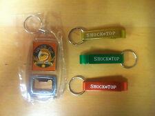 Shock Top Bottle Opener / Key Ring Variety Pack - Four  4 Openers New & FreeShip