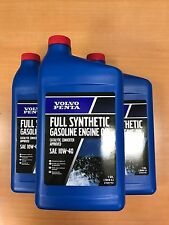 Pack 3 Volvo Penta 10W-40 Full Synthetic Gas Engine Oil 21681794 Genuine
