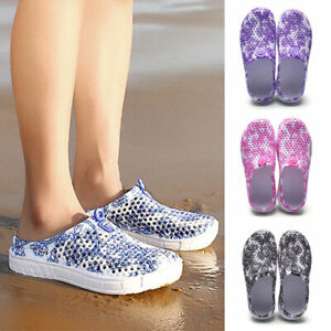Women Slippers Swim Pool Beach Slip On Mules Sports Sandals Indoor Outdoor Shoes