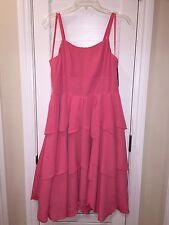 Pretty Pink Merona Womens Missy Ruffle Layer Ballerina Style Dress Princess Prom