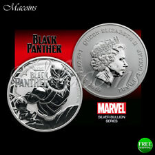 BLACK PANTHER MARVEL SERIES 2018 TUVALU 1 OZ 9999 SILVER BU COIN