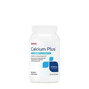GNC Calcium Plus 1000mg 180 Caplets