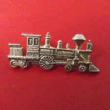 Steam Engine and Coal Car Gold Coloured Lapel or Hat Pin. Great Condition