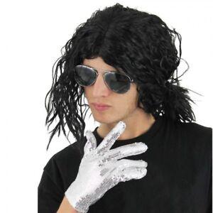 Michael Jackson WIG ONLY Afro Wet look Fancy Dress Accessory Pop Star 80's 90's