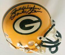 Bart Starr signed Packers mini helmet green bay football with beckett coa