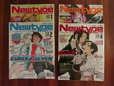 2006 NEWTYPE USA, 4 MAGAZINE W/ DVD'S LOT, /.……FREE SHIPPING…….