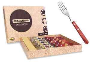 TRAMONTINA FORK SET--RED HANDLE--TRAS0076R