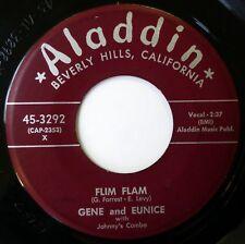 GENE & EUNICE 45 Flim Flam/Can We Forget It ALADDIN r&b duet VG++ d2031