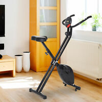 Foldable Exercise Bike Upright Fitness Bike 8-Level Resistance Cardio Workout