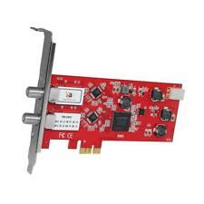 TBS 6902 DVB-S2 Dual Satellite HD TV Tuner PCIe Card UK Stock FREE P&P