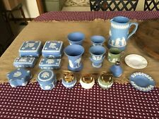 wedgwood jasperware cup box container vase plate pitcher urn lighter blue green