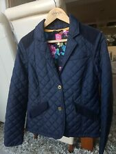 **JOULES LADIES SIZE 14 LINED BLUE QUILTED JACKET/COAT*L@@K**
