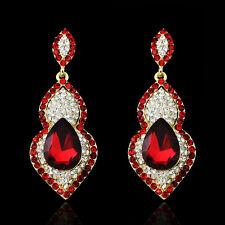 Drop Red Crystal Rhinestone Gentle Lady WOmen Jewelry wedding Party Club Earring