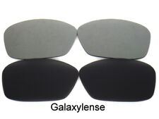 Galaxy Replacement Lenses For Oakley Ten-X Sunglasses Black&Gray Polarized