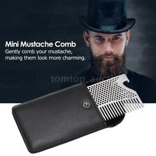 Pocket Steel Mustache Comb Men's Facial Hair Beard Brush With Bottle Opener C7D8