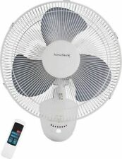 """NEW HOMEBASIX FW40-S1 3 SPEED 16"""" OSCILLATING WALL MOUNT FAN WITH REMOTE 8603078"""
