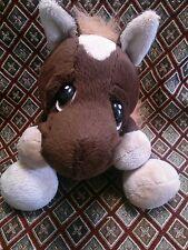 Baby Ganz Heart Tuggers Brown Horse Stuffed Plush Toy H10502 Sad Eyes EUC HTF