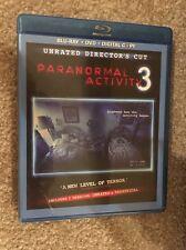 Paranormal  Activity 3 Bluray 1 Disc Set ( No Digital HD)