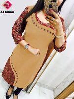 Indian Bollywood Kurti Dress Tunic Designer Trending Fashion Daily Clothing Sale