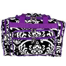 "Purple Damask Print  Duffle Bag Carrying Bag- 17""-NWT"