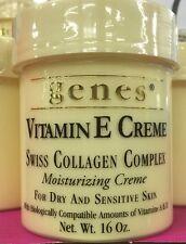 Genes Vitamin E Creme Swiss Collagen Moisturizing Cream 16oz