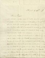 Lettera Autografo Principessa Elisabetta di Castiglione da Napoli Gonzaga 1774