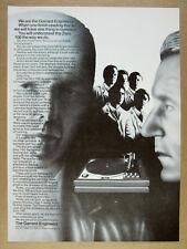 1973 Garrard Zero 100 Turntable vintage print Ad