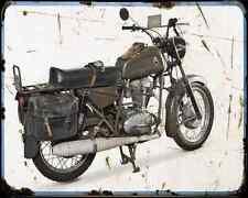 Ducati Condor 350 Militare  2 A4 Metal Sign Motorbike Vintage Aged