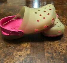 CROCS Sandals Girl Junior Size 1 j MulticOlor