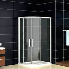 900x760mm Quadrant Shower Enclosure and Stone Tray Corner Cubicle Glass Left