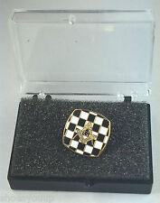 Freemason Masonic Carpet & Craft Gold Plated Enamel Lapel Pin Badge In Gift Box
