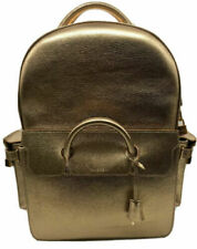 Buscemi Phd Gold Leather Backpack