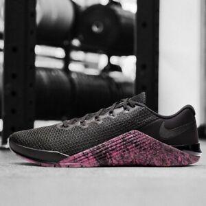 Nike Metcon 5 Crossfit Training Shoes Black Sunset Pink AQ1189-006 Men's Size 9