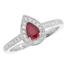Diamond Cluster Ruby Fine Rings