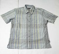 Patagonia Common Threads Men's Short Sleeve Button Down Shirt Size Large Plaid