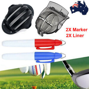 Golf Ball Marker Line Drawing Alignment Tool Set Sports Golf Ball Marker Liner