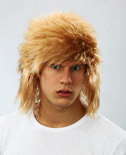 BIONDA Parrucca Shaggy Jon Bon Jovi STILE FANCY DRESS Stag Do Rocker confuso CAPELLI