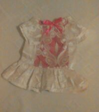 Beautiful Dress with Pink Bow For Dogs & Pets (Extra Small) Great Christmas Gift