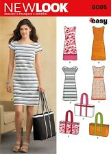 6095 MISSES' DRESSES & TOTE BAG Sewing pattern NEW LOOK Easy  Sizes 10 - 22