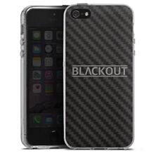 Apple iPhone 5 Silikon Hülle Case - Carbon - Blackout