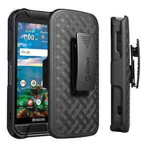 Shell Holster Kickstand Case with Spring Belt Clip for Kyocera Duraforce Pro 2