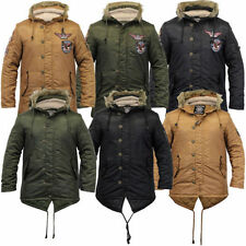 Button Hooded Regular Military Coats & Jackets for Men