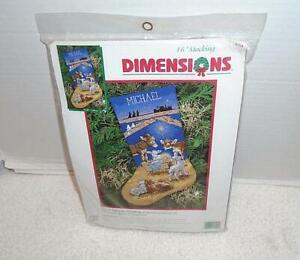 Dimensions NeedlePoint Sweet Nativity Stocking Kit NIP #9104