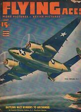 1943 Flying Aces July Pulp - St Francis Chapel- Riverside CA; Barrage Balloons