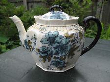 Antique Rare Keeling & Co Late Mayers Flow Blue&Gold Floral Teapot  c.1890s