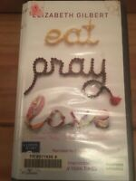 EAT PRAY LOVE AUDIO BOOK CASSETTE TAPES BOX SET Ex Rental ELIZABETH GILBERT