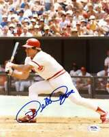 Pete Rose PSA DNA Cert Hand Signed 8x10 Photo Autograph