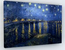 """VINCENT VAN GOGH STARRY NIGHT CANVAS PICTURE PRINT WALL ART """"BOX FRAME """"A40*"""
