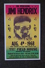 Jimi Hendrix Tour Poster 1968 University of Oklahoma